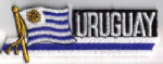 Uruguay Embroidered Flag Patch, style 01.